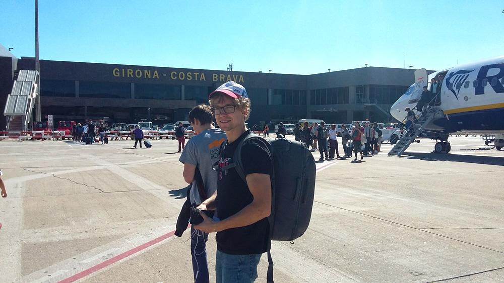 Na lotnisku w Gironie