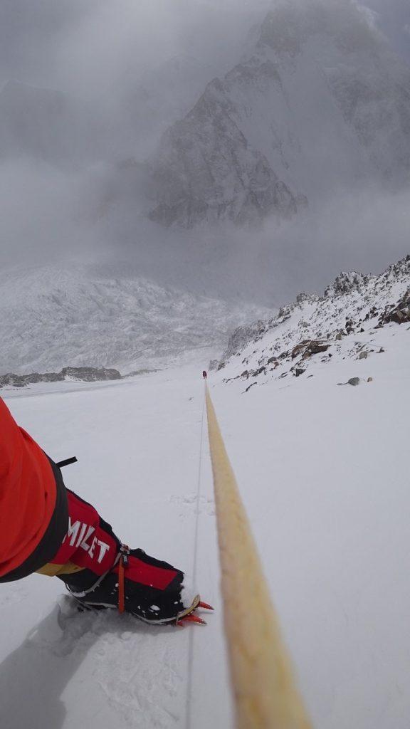 zimowa wyprawa na K2 - wspinanie 12