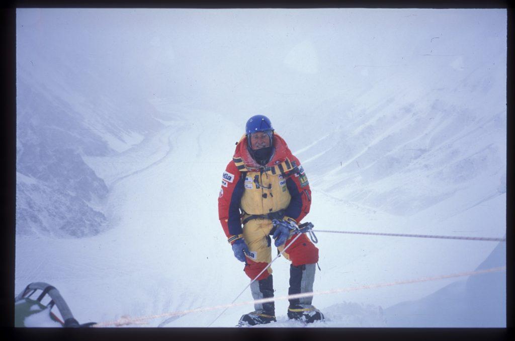 Krzysztof Wielicki podczas wyprawy Netia K2