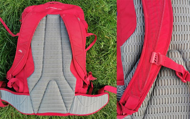 System nośny plecaka DMM Flight wraz z regulacją pasa piersiowego (fot. arch.własne)