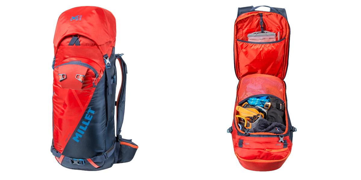 Plecak skitourowy Millet NEO 35+ wewnątrz i na zewnątrz (fot. millet.fr)