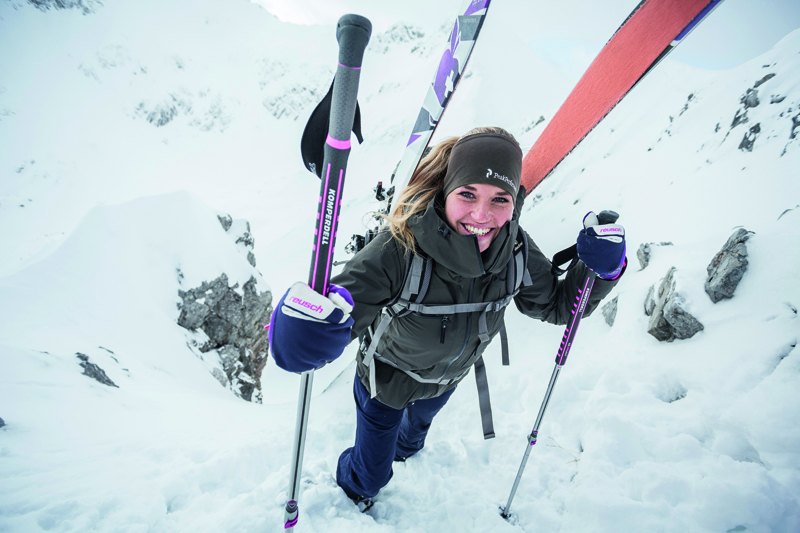 Damskie kije skitourowe Contour Titanal II Pro Comapct (fot. komperdel.com)