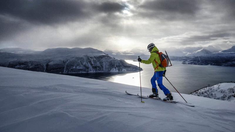 Spodnie Trangoworld TRX2 Soft Pro podczas skitouringu w Norwegii (Lyngen) (fot. Jorge Garcia-Dihinx/trangoworld )