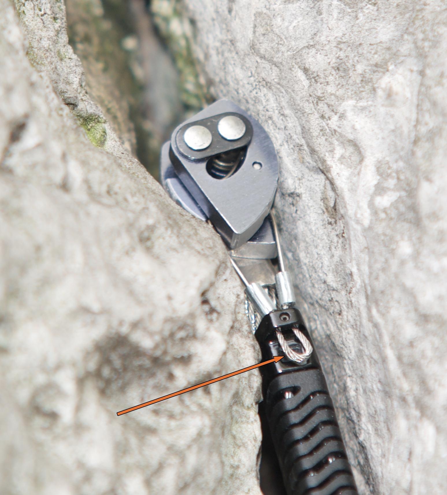 fot 4. trzon kości mechanicznej Black Diamond Camalot Z4 (fot. Dariusz Porada)