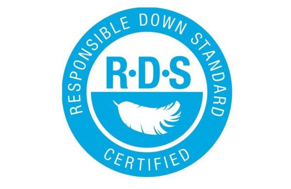 Logo standardu jakościu puchu RDS (Responsible Down Standard)