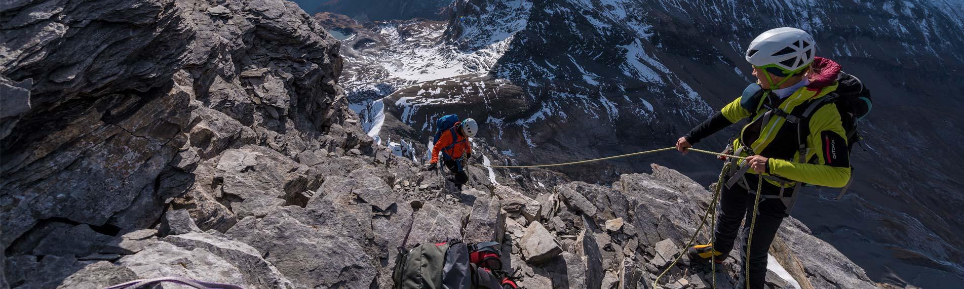 Asekuracja w trudnym terenie górskim (źródło: Edelrid)