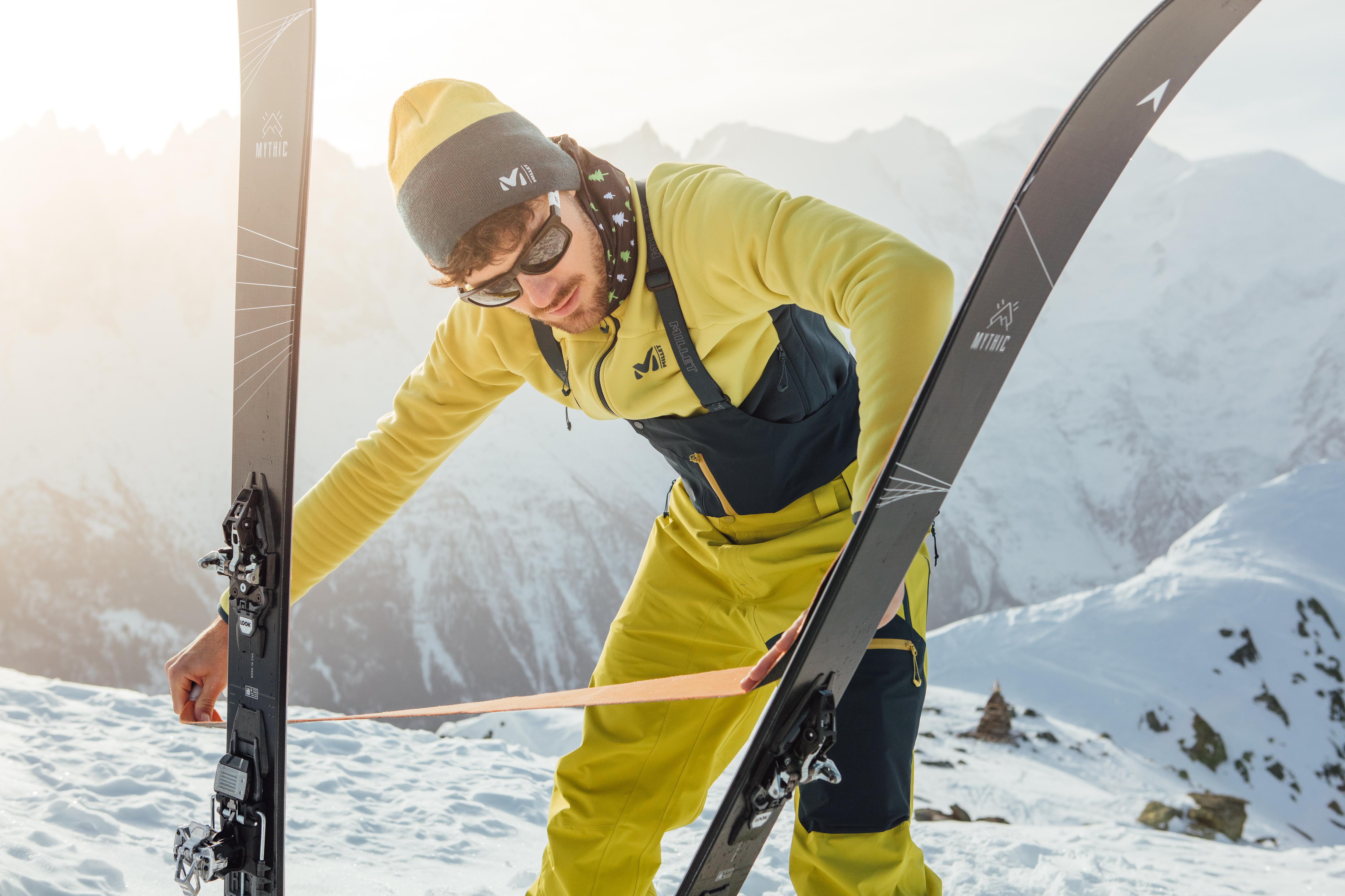 Klejenie foki na narcie skitourowej (fot. millet.fr)