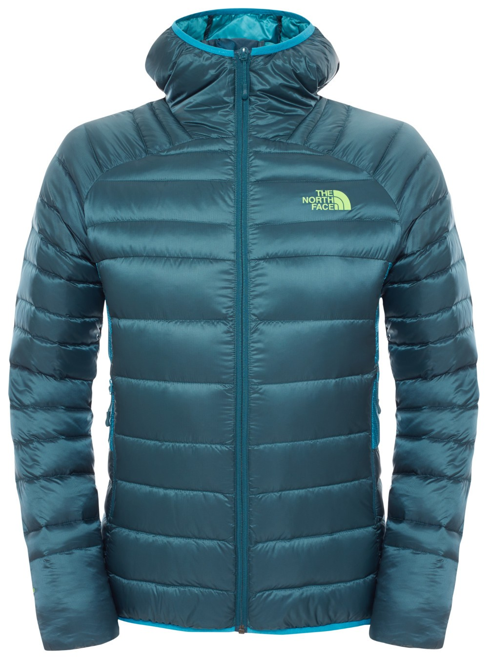 profesjonalna sprzedaż hurtownia online najlepsza obsługa KURTKA PUCHOWA THE NORTH FACE KEEP IT PURE HOODIE - DEPTH GREEN-ENAMEL BLUE